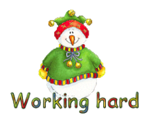 Working hard - ChristmasJugler