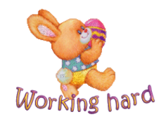 Working hard - EasterBunnyWithEgg16