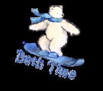 Bath Time - SnowboardingPolarBear