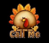Call Me - ThanksgivingCuteTurkey