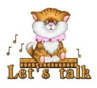 Let's talk - CuteKittenSitting