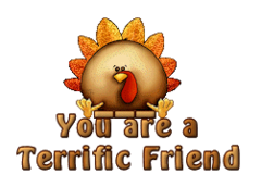 You are a Terrific Friend - ThanksgivingCuteTurkey