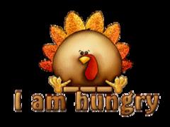 I am hungry - ThanksgivingCuteTurkey