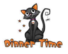 Dinner Time - HalloweenKittySitting