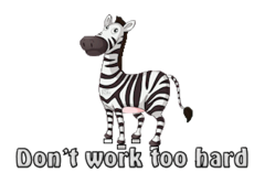 Don't work too hard - DancingZebra