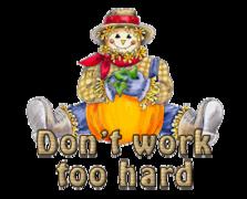 Don't work too hard - AutumnScarecrowSitting