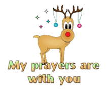 My prayers are with you - ChristmasReindeer