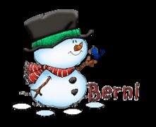 Berni - Snowman&Bird
