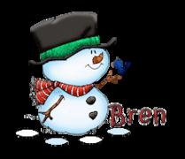 Bren - Snowman&Bird