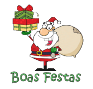 Boas Festas - SantaDeliveringGifts
