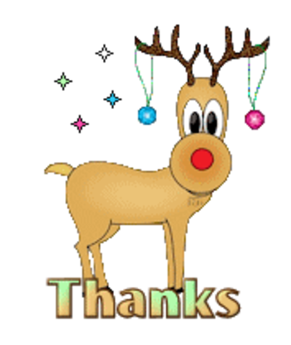 Thanks - ChristmasReindeer