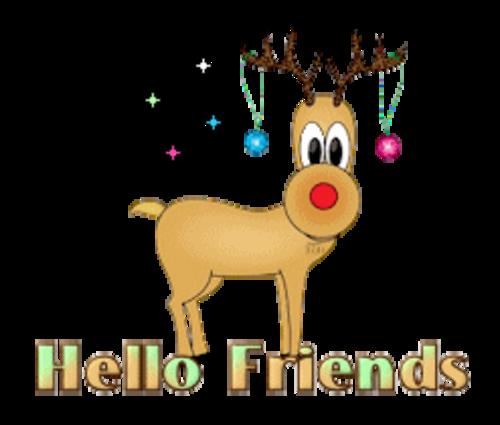 Hello Friends - ChristmasReindeer