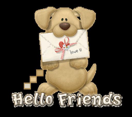 Hello Friends - PuppyLoveULetter