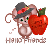 Hello Friends - ThanksgivingMouse