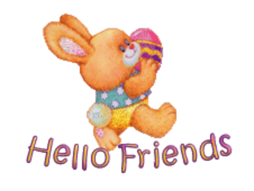 Hello Friends - EasterBunnyWithEgg16