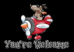 You're Welcome - DogFlyingPlane