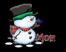 Mom - Snowman&Bird