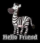 Hello Friend - DancingZebra