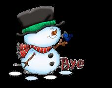 Bye - Snowman&Bird