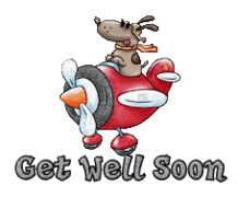 Get Well Soon - DogFlyingPlane