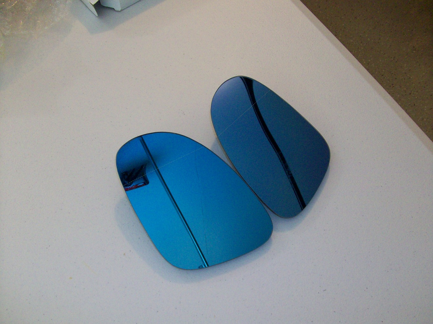 SOLD $75 Blue Tinted Heated Blind Spot Split Mirror Set for MKV GTI, Jetta, Rabbit, B6 Passat & EOS