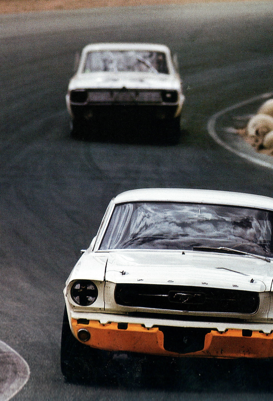 Jerry Titus Mustang(1st) VS BobTullius Dodge Dart(2nd) '66 Riverside