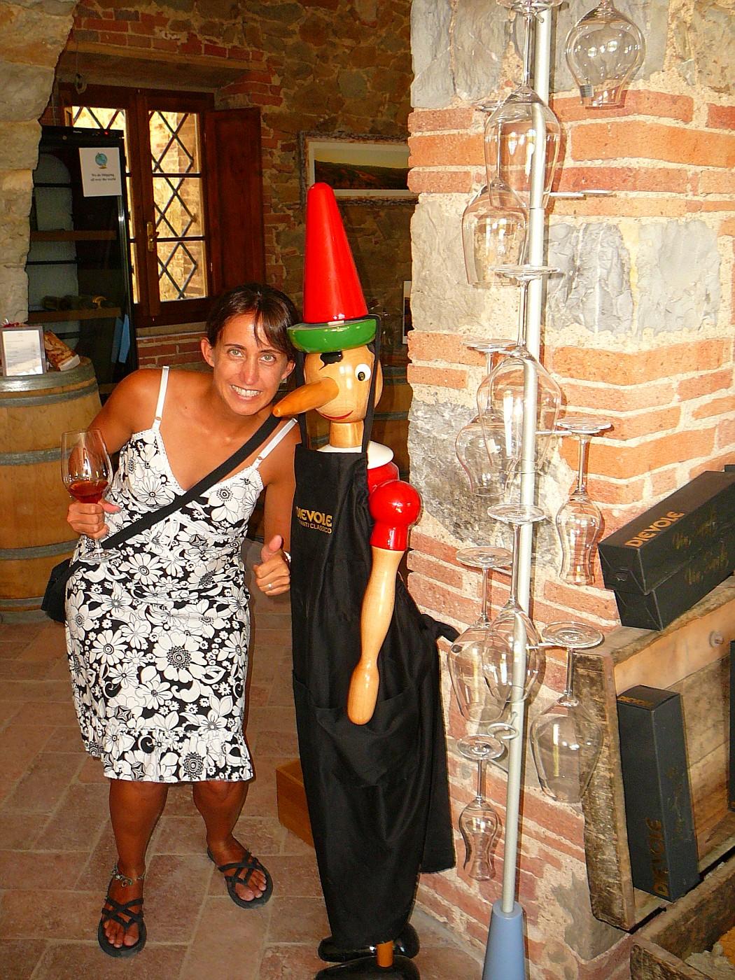 Dievole Winery Shelly with Pinnochio