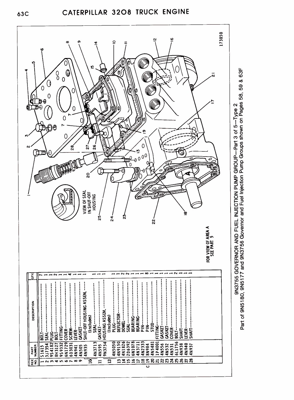 photo: 3208 parts manual pagina 126 | cat 3208 ... 3208 cat engine pulley diagram