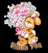 Thank You - BunnyWithFlowers