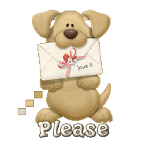 Please - PuppyLoveULetter