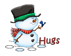 Hugs - Snowman&Bird