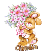 Claudia - BunnyWithFlowers