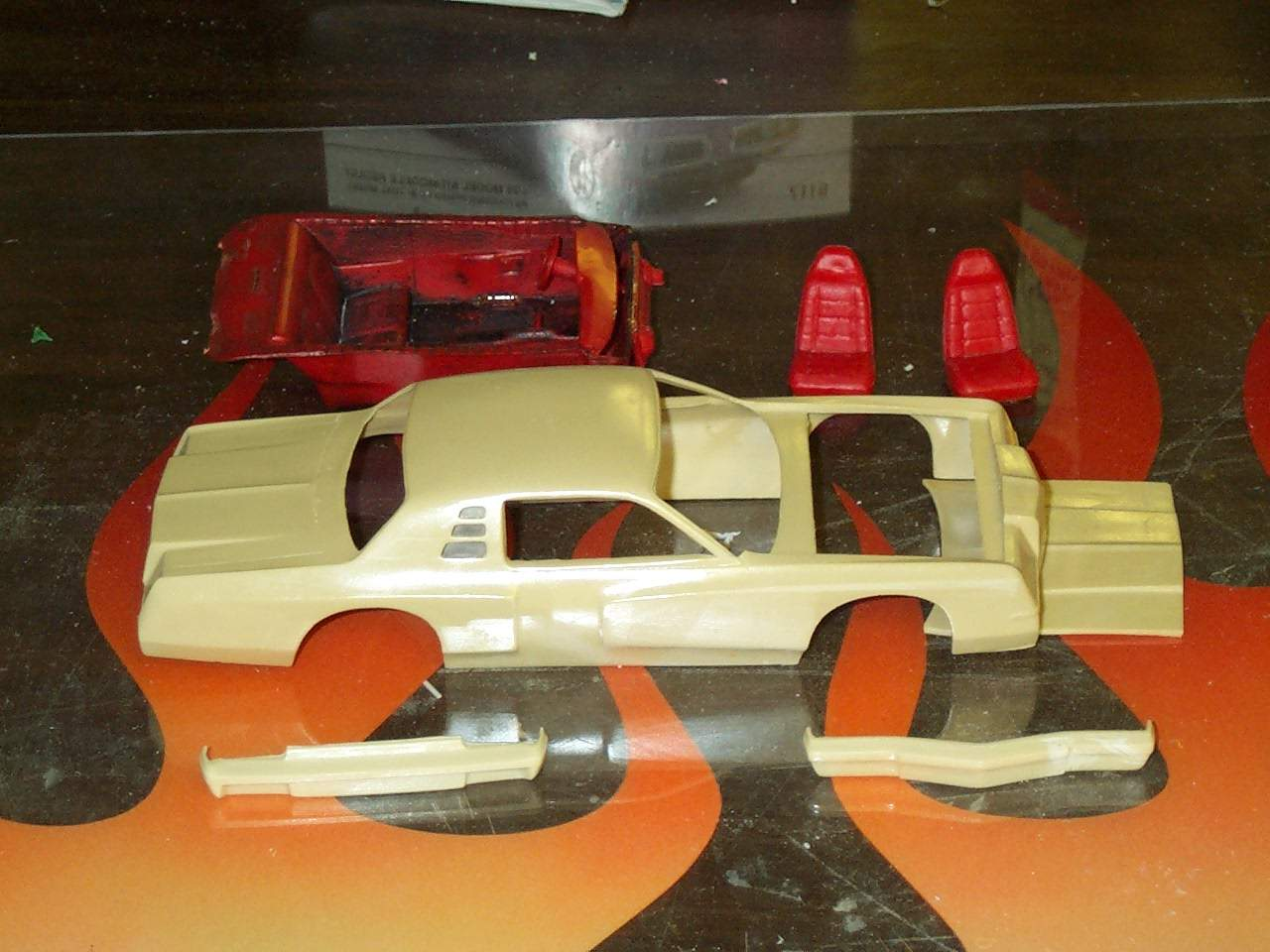 Starting 79 Dodge Magnum street car conversion. I am starting with a JNJ resin race car body that seems to be based on the old MPC 71-77 Charger / Road Runner / Monaco, the real Magnum shared a lot of structure with those cars.