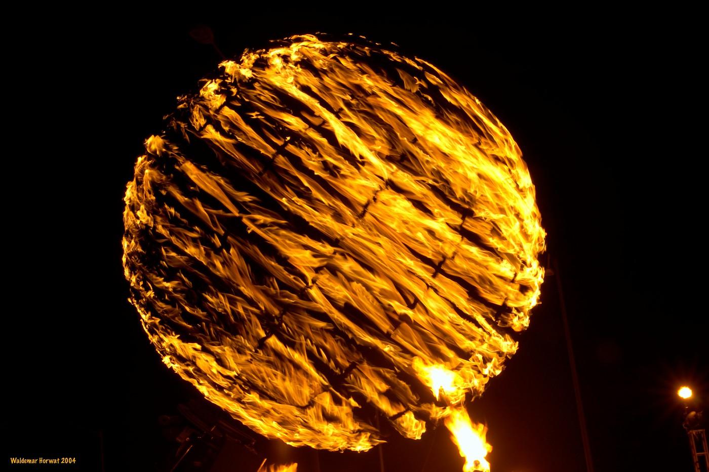 Flaming Globe