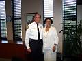 Fire Chief Herminio Lorenzo and PR Rachel Moscoso Denis