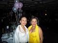 Mrs Fedora Chevry in the company of PR Rachel Moscoso Denis