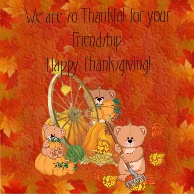 thankful friendship