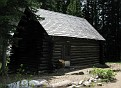 Patrol cabin at the trail fork