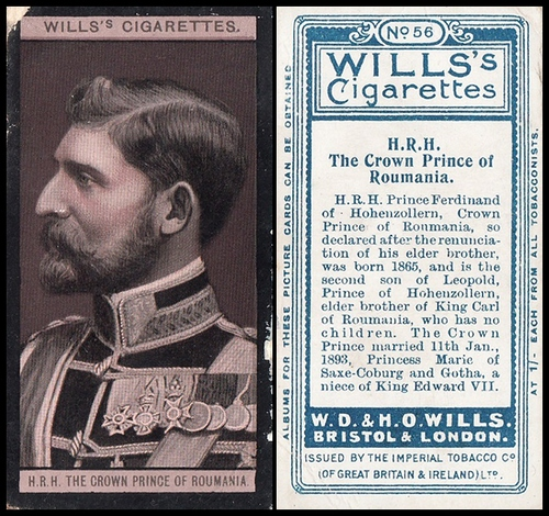 1908 Wills European Royalty #056