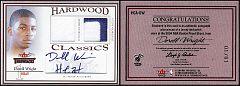 2004-05 Fleer Throwbacks Hardwood Classics Jersey, Patch & Autograph Dorrell Wright