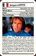 1987 Ace Fact Pack Jacques Lafitte