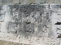 Hieroglyphics in the Ball Court Walls of Chichen Itza, Yucatan Peninsula, Mexico.