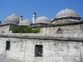 Rear Wall of Suleyman Mosque in Instanbu, Turkey.