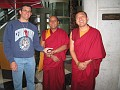 Steve and Two of the Visting Monks from India in the Ft  Lauderdale, Florida Library.