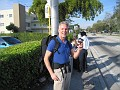 Waiting for the Bus to the Ft. Lauderdale Airport,,,  only 15 minutes from the hostel!!!  Nice!!!