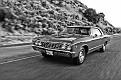 1967 Chevrolet Chevelle L79 hardtop DSC 5632 cropped HDR B&W