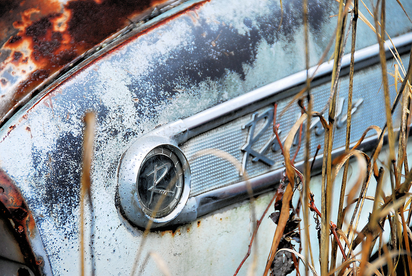 Collier Motors 1957 AMC Rebel detail