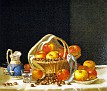 Still Life - Basket of Apples and Chestnuts on a Table [undated]