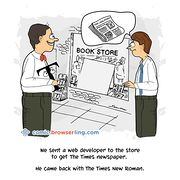 Newspaper - Weekly comic about web developers, software and browsers