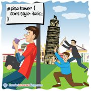 Tower of Pisa - Weekly comic about web developers, software and browsers